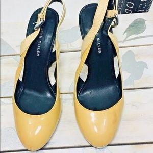 Karen Millen Heels Size 37 Slingback Beige Leather